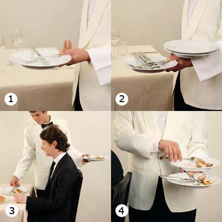 come servire a tavola cameriere lavorare