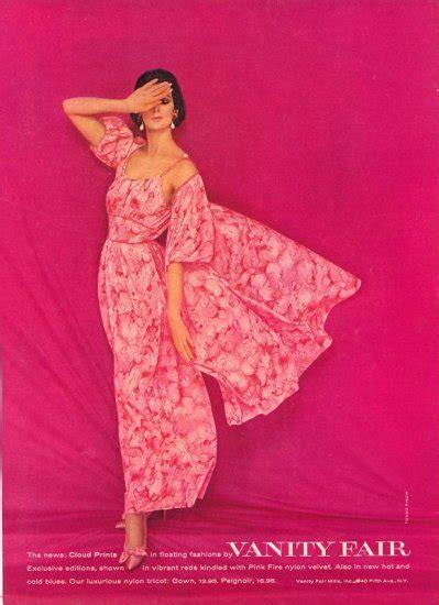 Vanity Fair Nightwear by Vintage 1960 Pink Vanity Fair Nightgown Print Ad