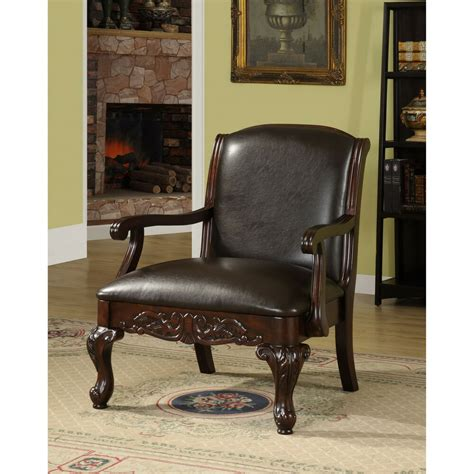 Furniture Accent Chair - furniture of america antique cherry accent chair ebay