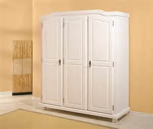 armoire rangement armoire penderie pin massif blanche 224 3