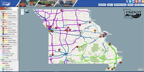 modot traveler map images modot road conditions