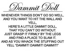 Dammit doll cape house hallmark