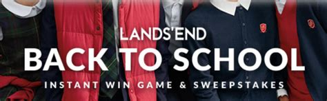 Lands End Sweepstakes - lands end back to school sweepstakes sun sweeps