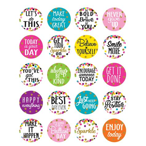 Sticker Drucken Png by Confetti Words To Inspire Planner Stickers Tcr5909