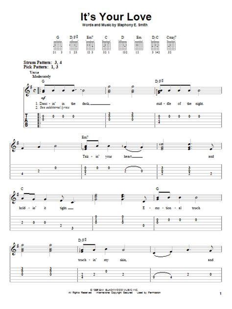 guitar tutorial your love it s your love sheet music direct