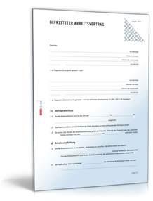 Vorlage Praktikumsvertrag Schweiz Befristeter Arbeitsvertrag Muster Vorlage Zum