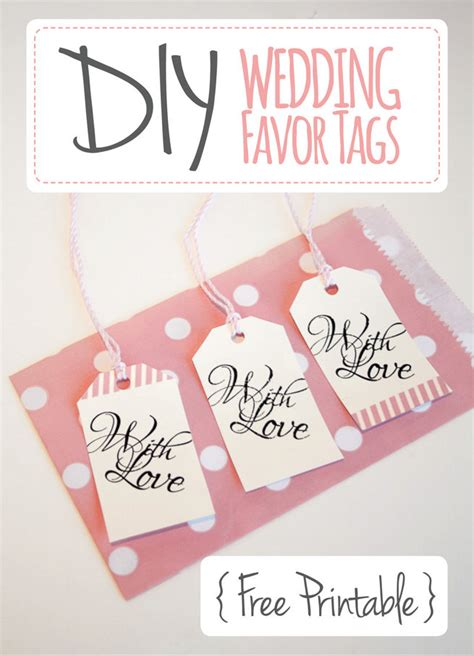 wedding favor tags quot with love quot luggage tag printable