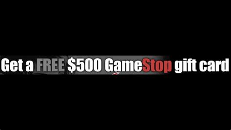 How To Use Gamestop Gift Card - gamestop gift cards free 500 youtube