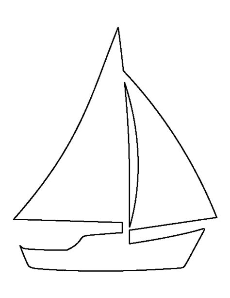 boat outline picture sailboat pattern use the printable outline for crafts