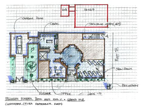bonasera funeral home floor plan layout design