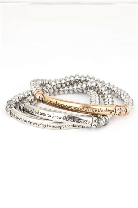 serenity prayer three layer stretch bracelet bracelets