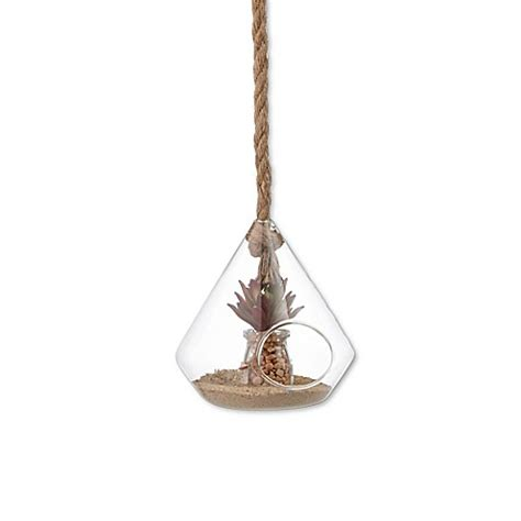 Rope Hanging Planter - buy danya b 8 inch hanging glass planter with rope from