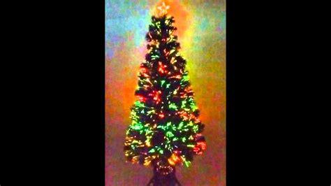 weihnachtsbaum 150cm led glasfaser 5 farben k 252 nstlicher