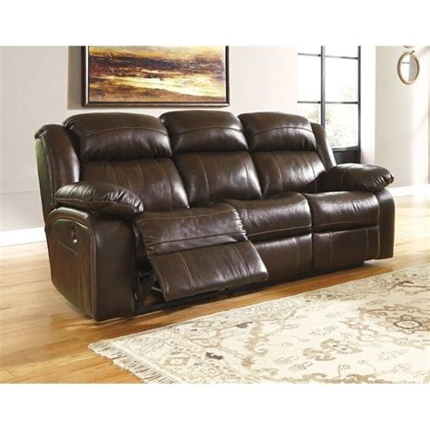 Leather Power Reclining Sofa Reviews by Branton Leather Power Reclining Sofa In Antique