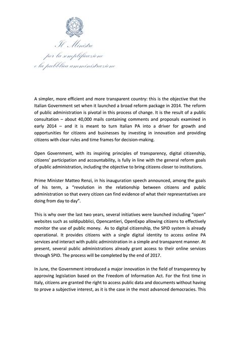 Demand Letter Response Time Italy Open Government Partnership