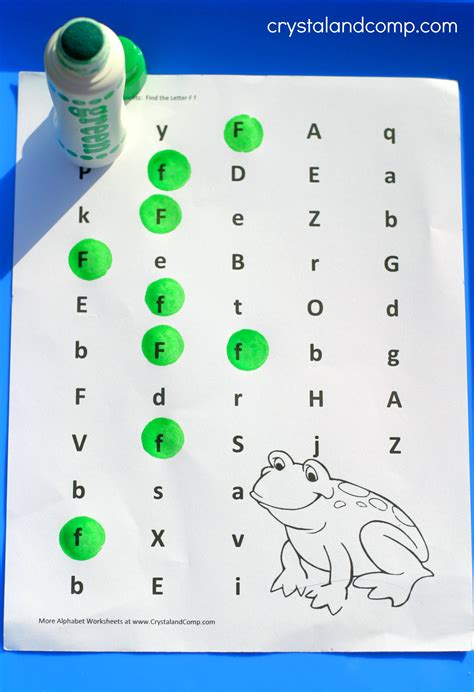 Do Find Preschool Letter Worksheets F Is For Frog