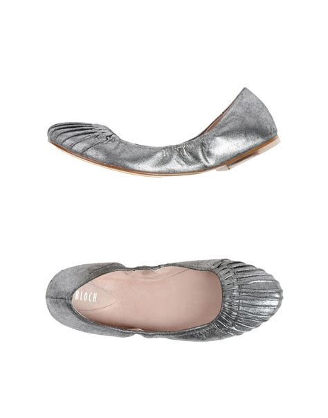 silver shoes flats bloch elasticated ballet flats in silver lyst