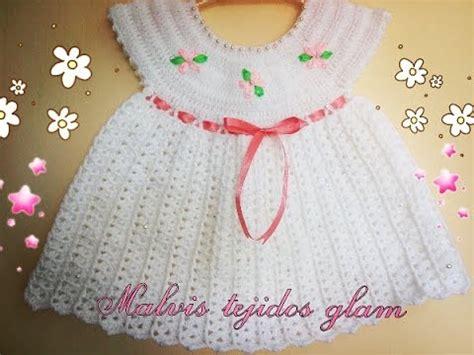 vestidos para bebes de tejido vestido para beb 233 tejido a crochet o ganchillo f 225 cil y