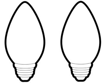 lights template search results for coloring page light bulb