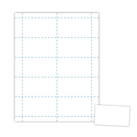 template for 8 5 x 5 5 card two up 3 5 x 2 business card on 8 5 x 11 white 67 lb