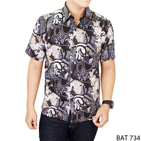 Kemeja Batik Bat 999 kemeja batik lengan pendek pria katun beige bat 734 gudang fashion