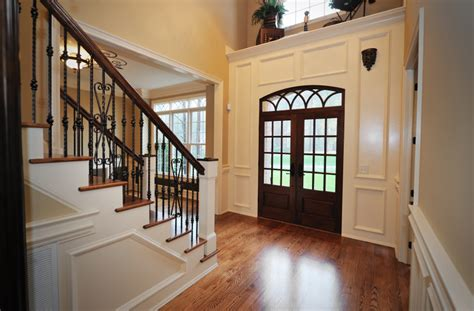 big white staircase beautiful wooden floors high 46 beautiful entrance hall designs and ideas pictures