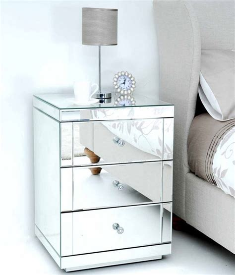 mirror side tables bedroom apollo mirrored dressing table pair of lucia mirrored