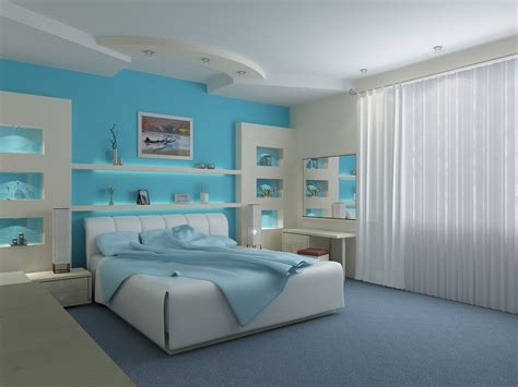 Blue Bedroom Interior Design Bedroom Interior Design With Blue Wallpapers 1600x1200 431351