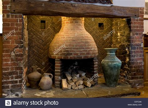 Pottery Fireplace by Brick Beehive Inglenook Fireplace With Oak Beam And