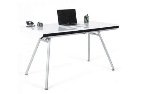 Bureau Rectangulaire Design Blanc Aristide Bureaux Pas Cher Table Bureau Pas Cher