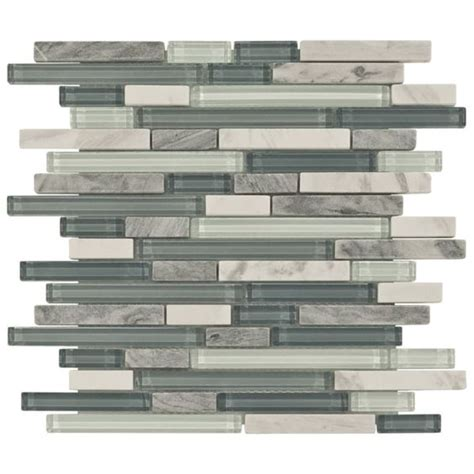 Waterfall Glass Tile | bliss waterfall glass stone linear blend mosaic tile so