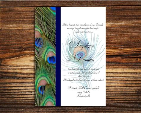 Instant Template Download Peacock Wedding Invitation Editable Pdf By Lovableinvitations On Etsy Free Peacock Wedding Invitation Templates