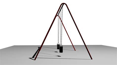 wind swing 3d model swing wind blowing