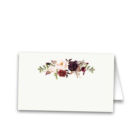 Gift Card Winery - floral wedding escort seating cards burgundy wine