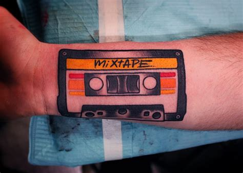 cassette tape tattoo dave wah artist baltimore maryland