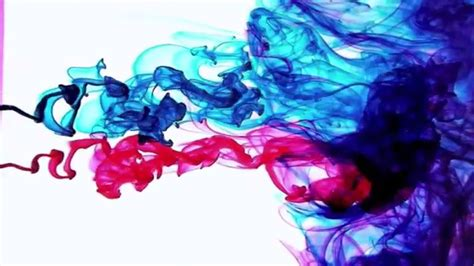 ink colors color ink drops in water motion hd