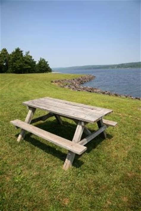 How To Cover Picnic Table Benches Ehow