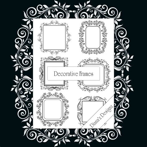 Decorative Ornaments For The Home Decorative Frame Brushes Photoshop Brushes