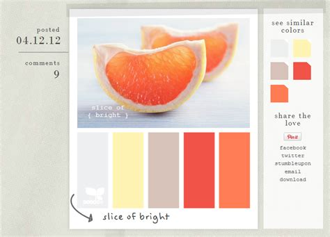 design seeds get inspired by color palettes from design seeds