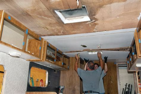Travel Trailer Ceiling Panels by Rv Ceiling Panels Replaced Home Design Ideas