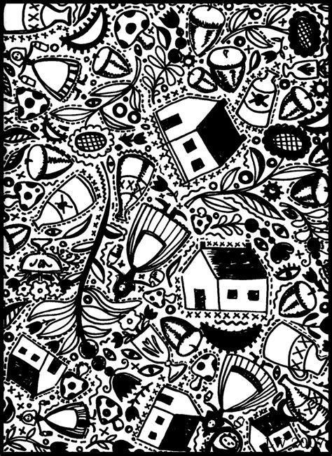 doodle viewer for bbm americana doodle coloring page 7 by leslie wilson 2007
