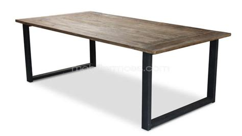 Table Bois Metal Industriel
