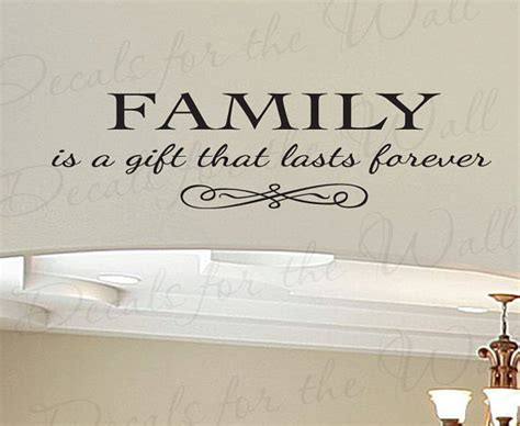 family a gift lasts forever home large wall decal vinyl
