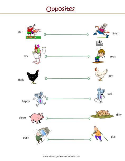 printable worksheets opposites kindergarten kindergarten worksheets kindergarten worksheets opposite