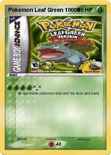 Green Leaf Yoshi 1 8 L pok 233 mon leaf green 10000 10000 my card