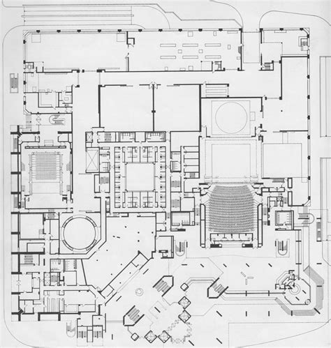 national theatre ground floor plan dorfman theatre 78 best images about architecture ii sections plans on