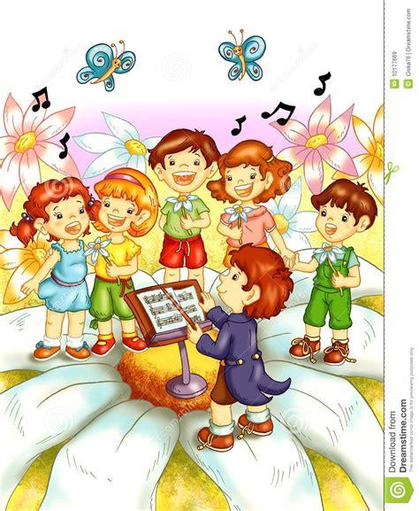 imagenes de niños jugando y bailando ni 241 os que cantan stock de ilustraci 243 n ilustraci 243 n de