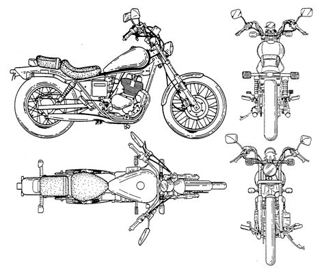 free blueprint motorcycle bike blueprints for 3d modeling cgfrog