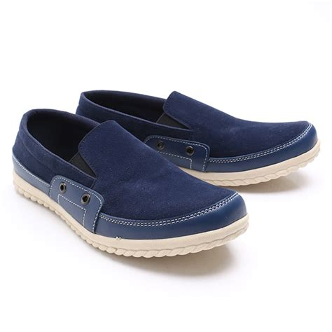 Sepatu Dr Kevin dr kevin casual shoes slip on 13205 navy elevenia
