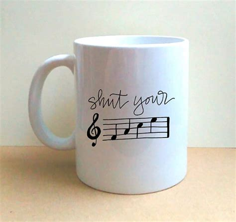 shut your f a c e hand lettered coffee mug by lmlettering